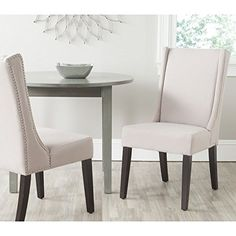 Safavieh Mercer Collection Sher Side Chair, Taupe, Set of 2