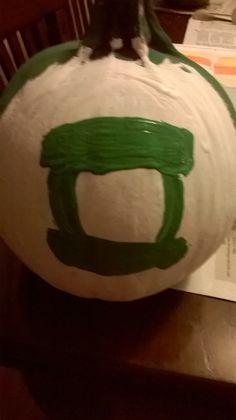 A Green Lantern pumpkin