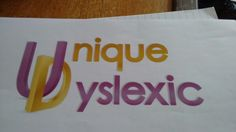 we could just use our logo with something added about being dyslexia positive?