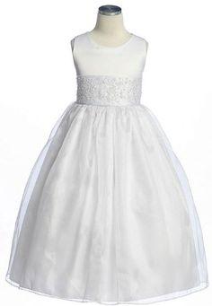 New Wide Sash Satin & Organza Flower Girl or First Communion Dress Sz 2 to 14 Girls