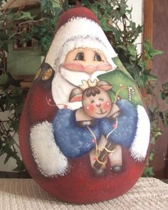 Christmas santa Designs for Gourds | Christmas Patterns