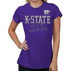 Kansas State Wildcats Women's Shinedown Spirit T-Shirt - Purple
