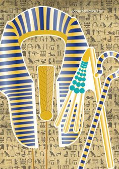 Egyptian King Tut and Queen Nefertiti Printable by paperandcake
