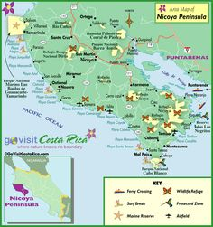 Costa Rica Maps - 35 best images | Unique maps, Costa rica travel ...