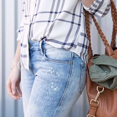 """stitchfix: """"It's a jeans and plaid kinda day. What's your go-to weekend wear? #SaturdayVibes"""""""