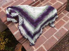 York Shawlette #anastaciaknits - free top down crochet shawl