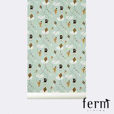 Ferm Living Kite Wallpaper Mint