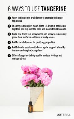 Have you received your Tangerine oil yet? Here are 6 ways to use it when you do!