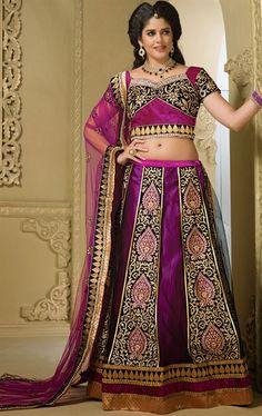 Picture of Elegant Violet Color Indian Lehenga Choli