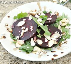 Beet Carpaccio: Give beets a chance! They're naturally sweet, low in calories, and a good source of fiber and folate. Also? They're DELICIOUS in this salad!