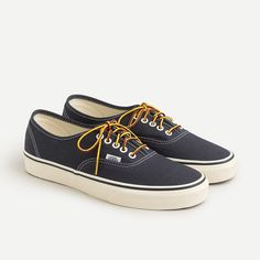 Crew for the Vans® for J.Crew washed canvas authentic sneakers for Men. Find the best selection of Men Clothing available in-stores and online. Crew Clothing, Vans Shop, Street Culture, Sock Shoes, Casual Shoes, Bag Accessories, Hiking Boots, J Crew, Shoes Sneakers
