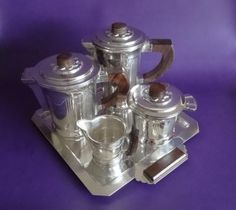 French-Art-Deco-Silverplated-5-Piece-Coffee-Tea-Set-Coffee-Accessories