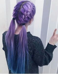You need to see these stunning purple hair ideas for braiding if you want to kee., Frisuren,, You need to see these stunning purple hair ideas for braiding if you want to kee. Pastel Hair, Ombre Hair, Pink Hair, Long Purple Hair, Pastel Pink, Pretty Hairstyles, Braided Hairstyles, Crazy Hairstyles, Hairstyle Ideas