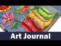Art journal | rainy day - YouTube