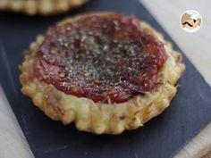 Tartaletas tatin de tomates cherry