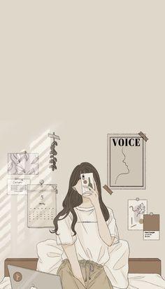 Cute Pastel Wallpaper, K Wallpaper, Iphone Wallpaper Tumblr Aesthetic, Anime Scenery Wallpaper, Aesthetic Pastel Wallpaper, Kawaii Wallpaper, Wallpaper Iphone Cute, Cartoon Girl Images, Cartoon Girl Drawing