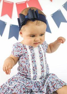Baby Headband Navy Blue Big Bow Headband Blue Baby Headband