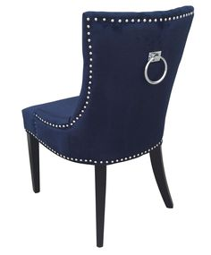 TOV Furniture Modern Uptown Navy Velvet Dining Chair (Set of 2 – Minimal & Modern