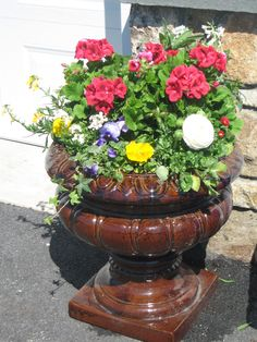 Spring planter add branches to fresh flowers spring urns spring planter mightylinksfo