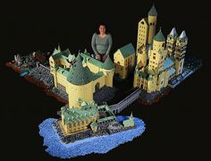 More amazing pics of this crazily nuanced LEGO version of Hogwarts School of Witchcraft and Wizardry http://www.pastemagazine.com/blogs/awesome_of_the_day/2013/02/woman-builds-extremely-detailed-lego-hogwarts-castle.html