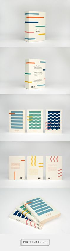 Favourite author and colour combo - it doesn't get much better than this delicious collectors box. Hemingway and the Sea on Behance by Kajsa Klaesén curated by Packaging Diva PD. Collectors box packaging and covers for three novels by Ernest Hemingway. Graphisches Design, Buch Design, Layout Design, Design Ideas, Clean Design, Logo Design, Design Editorial, Editorial Layout, Corporate Identity Design