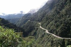 Ever been to Bolivia??? Recognise this road??? If not, this is said to be the world's most dangerous road. The North Yungas Road (alternatively known as Grove's Road, Coroico Road, Camino de las Yungas, Road of fate or Death Road) is a 61-or-69-kilometre (38 or 43 mi) road leading from La Paz to Coroico, 56 kilometres (35 mi) north-east of La Paz in the Yungas region of Bolivia.