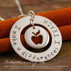 Hand Stamped Teacher Necklace  Personalized by IntentionallyMe, $60.00