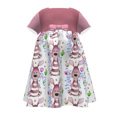 Puperita Hula Hoop Dress made with Spoonflower designs on Sprout Patterns. Hula Hoop, Dress Making, Spoonflower, Bunny, Patterns, Skirts, Dresses, Design, Fashion