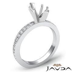 Marquise Semi Mount Pave Setting Diamond Women Wedding Ring 14k White Gold 0 5ct   eBay