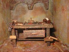 Foro de Belenismo - Miniaturas, detalles y complementos -> banco carpintero Painting, Home Decor, Art, Brick Flooring, Bird Houses, Wood Scraps, Nativity Scenes, Miniatures, Nativity Sets
