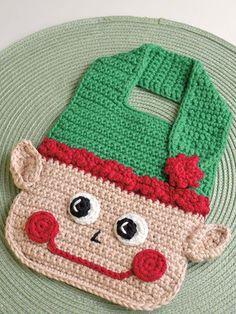 e9c4e743951 Christmas Elf Baby Bib ~ easy level ~ 6.5