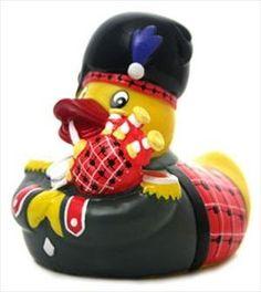 Schotte, Schottland, Schottische Badeente, Ente, Gummiente, Dudelsackspieler