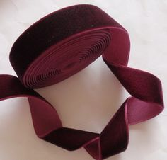 5 Yards 3 4 Inches Velvet Ribbon In Wine RY34 238 By Marcusann