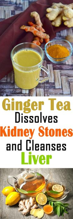 Kidney Cleanse Detox Ginger Tea Dissolves Kidney Stones And Cleanse Liver Kidney Detox Cleanse, Liver Cleanse, Liver Cleansing Diet, Heal Liver, Body Cleanse, Juice Cleanse, Natural Cure For Arthritis, Natural Cures, Natural Colon Cleanse