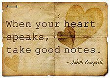 when your heart speaks