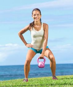 Lose Fat - How to Lose Arm Fat Fast Workout - Shape Magazine - Do this simple 2 minute ritual to lose 1 pound of belly fat every 72 hours Kettlebell Training, Crossfit Kettlebell, Kettlebell Swings, Strength Training Workouts, Kettlebell Benefits, Crossfit Baby, Kettlebell Challenge, Fast Workouts, Lower Ab Workouts