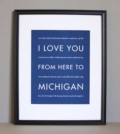 I love you from here to Michigan :)