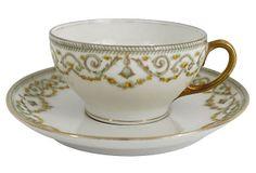 Antique Limoges Cup & Saucer