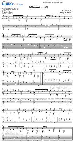C Petzold not Bach minuet in G