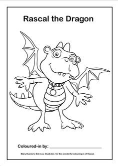 FREE DOWNLOADS of Rascal, Bommer and Sniff colouring pages