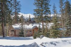 """Skip the hotels and rent luxury home nestled in the trees, like this one from @Book Breck Vacation Homes . // """"The beautiful exterior of a five bedroom Breckenridge vacation rental in the Highlands."""""""