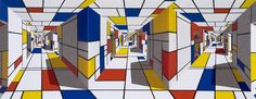 Patrick Hughes, Purism, 2006, Winsor Gallery