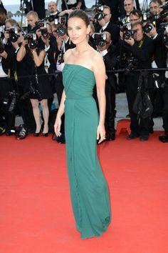 Virginie Ledoyen in green dress @ Cannes festival