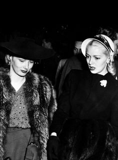 Veronica Lake and Lana Turner, 1940s. Two amazingly stylish women.