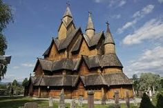 Heddal stave church, Norway's largest stave church, rises above cemetery headstones, Cemetery Headstones, Gothic Cathedral, Best Funny Pictures, Norway, Beautiful Places, Europe, Architecture, Dragons, Saints