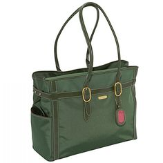 The Classic Travel Tote made of durable lightweight luggage nylon provides a professional yet stylish image.