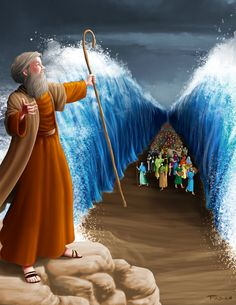 Parting the Red sea Trunk or treat ideas - Search Yahoo Image Search Results Images Bible, Bible Pictures, Bible Art, Bible Scriptures, Arte Judaica, La Sainte Bible, Pictures Of Jesus Christ, Christian Artwork, Bible Illustrations