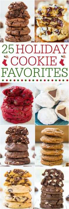 25 Holiday Cookie Favorites - The tried-and-true favorites are all here! If you need a holiday cookie recipe, this collection has you covered!!