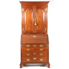 Pug Moore Chippendale Style Secretary Bookcase Sold $3,800.