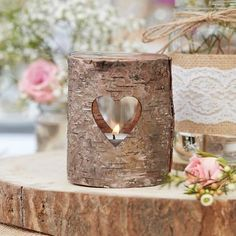 Buy Ginger Ray Wooden Heart Tea Light Holder from the Candles & Lighting range at Hobbycraft. Wooden Centerpieces, Rustic Wedding Centerpieces, Table Decorations, Rustic Country Wedding Decorations, Rustic Candle Holders, Tealight Candle Holders, Tea Light Candles, Tea Lights, Accessoires Photobooth